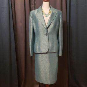 Light Iridescent Green Kasper Suit